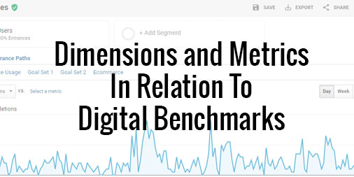 dimensions and metrics digital benchmarks