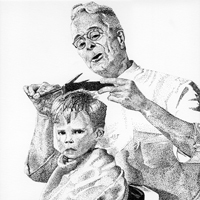 Norman Rockwell graphite drawing